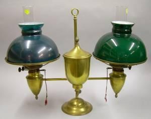 Bradley  Hubbard Brass Double Student Lamp