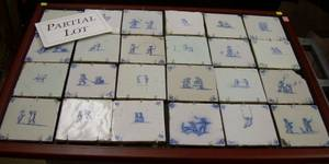 Thirty Delft Blue and White Tiles