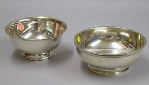 Sterling Silver Reverestyle Presentation Bowl and a Gorham Sterling Silver Footed Bowl