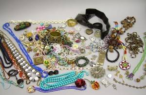 Large Group of Assorted Costume and Fashion Jewelry