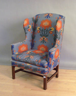 Chippendale style mahogany wing chair