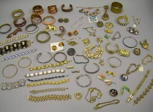 Group of Costume Bracelets and Other Jewelry