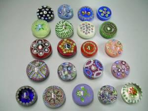 Twentyone Perthshire Millefiore Art Glass Paperweights