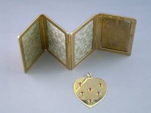 14kt Gold Hinged Picture Frames