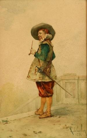 Louis Robert de Cuvillon French 18481931 Portrait of a Cavalier