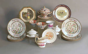 Miscellaneous pottery and porcelain to include ironstone