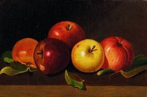 American School 19th20th Century Still Life with Apples