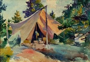 Frank Weston Benson American 18621951 Tent Lake Tahoe