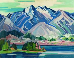 Mildred Valley Thornton Canadian 18901967 Mountains and Sea  A British Columbia Coastal Scene