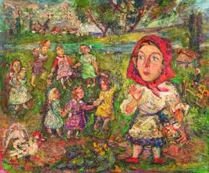 David Burliuk RussianAmerican 18821967 In the Village