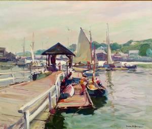 Emile Albert Gruppe American 18961978 The Float East Gloucester