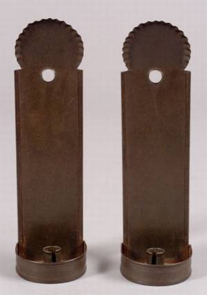 Pair of Small Tin Candle Sconces