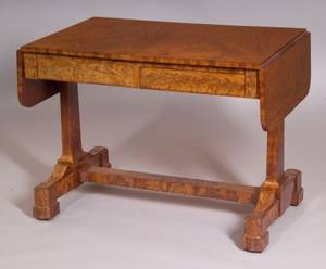 Classical Mahogany and Flame Mahogany Veneer Sofa Table