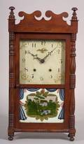 Pine and Maple Cased Transitional Shelf Clock
