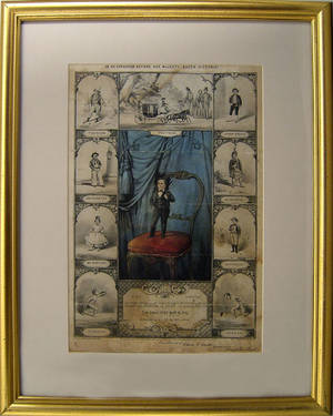 Currier  Ives color lithograph titled General Tom Thumb