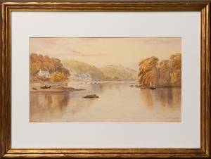 English watercolor landscape ca 1900
