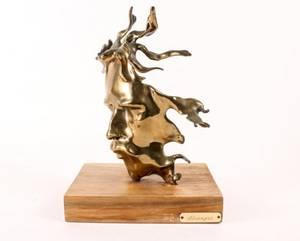 Paul D Wegner Figural Bronze Stranger Sculpture