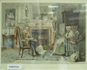 Lot of Seven Framed Prints of European Genre Scenes