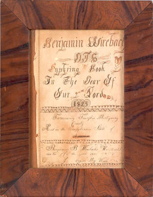Towmenasing Township Montgomery County Pennsylvania ink and watercolor fraktur bookplate dated 1823