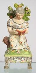 Obadiah Sherratt Type Pearlware Figure of the Village Maid