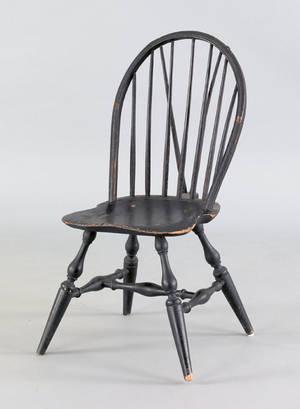 Windsor braceback side chair ca 1790