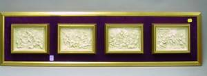 Framed Group of Four Classical Plaster Plaques