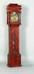 New Jersey Aaron Miller gumwood tall case clock ca 1760