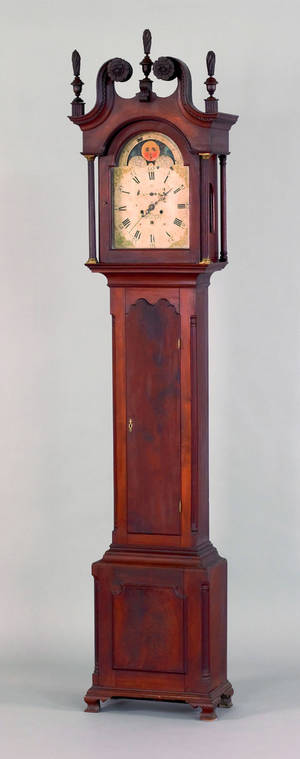 York County Pennsylvania Chippendale walnut tall case clock ca 1775
