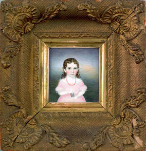 Set of three Massachusetts miniature watercolor on ivory portraits