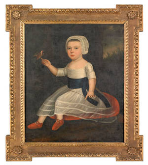 English or Dutch oil on canvas portrait late 18th c