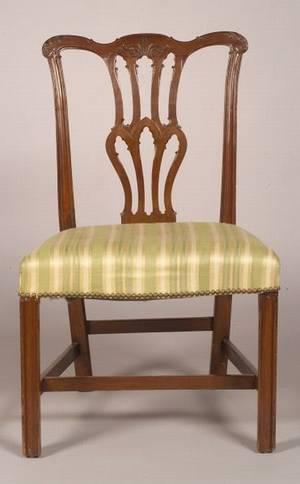 George III Carved Mahogany Side Chair