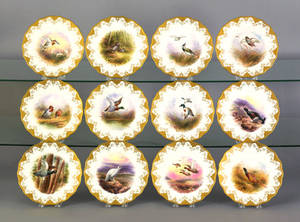 Set of twelve Cauldon dessert plates