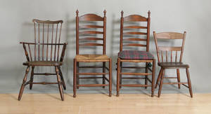 Pair of ladderback chairs