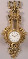 Louis XVIStyle Bronze Cartel Clock