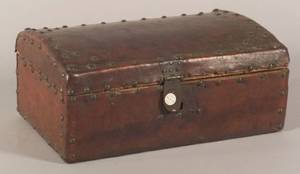 Small Continental Hidecovered Lock Box