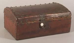 Small Continental Hidecovered Lock Box