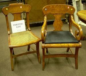 Assembled Set of Thirteen Classical Veneered Dining Chairs