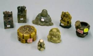 Eight Assorted Small Asian Carved Articles