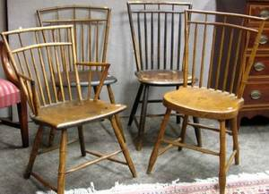 Four Windsor Birdcage Chairs