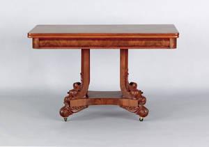 Classical mahogany console table ca 1835