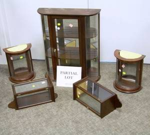 Six Assorted Small Display Cabinets