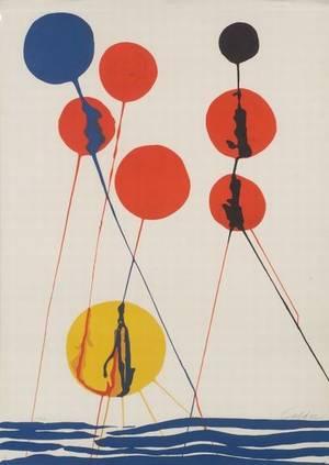 Alexander Calder American 18981976 Untitled Spheres and Waves