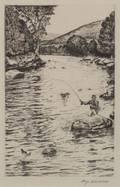 William Joseph Schaldach American 18961982 The Lower Beaverkill