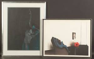 Paul Wunderlich German b 1927 Lot of Two Figural Compositions