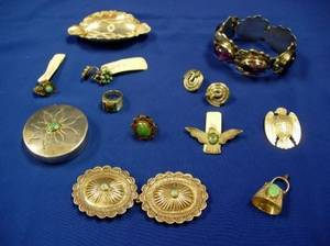 Group of Silver Jewelry and Other Items