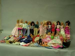 Large Lot of Barbie Dolls and Accessories