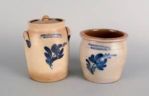 Two Cowden  Wilcox stoneware crocks