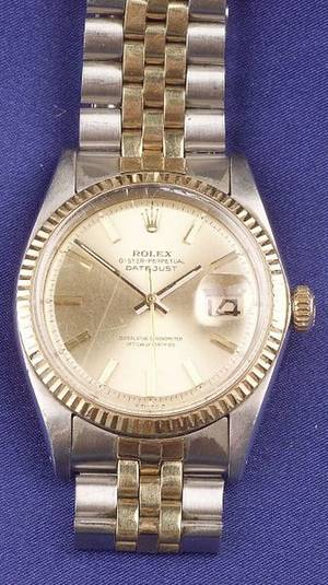 Gentlemans 18kt Gold and Stainless Steel Wristwatch Rolex
