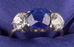 18kt Gold Sapphire and Diamond Ring Tiffany  Co