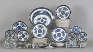 Group of Chinese export blue Fitzhugh tablewares 19th c